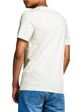 Camiseta Jack and Jones Logo Blanco Hombre