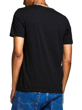 Camiseta Jack and Jones Logo Negro Hombre