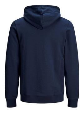 Sudadera Jack and Jones Jorskally Marino Hombre