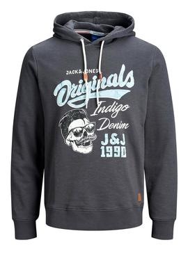 Sudadera Jack and Jones Jorskally Gris Hombre