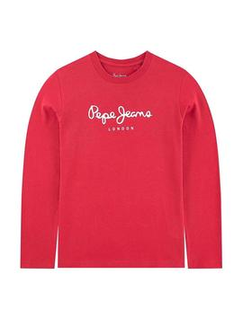 Camiseta Pepe Jeans New Herman JR Rojo Niño