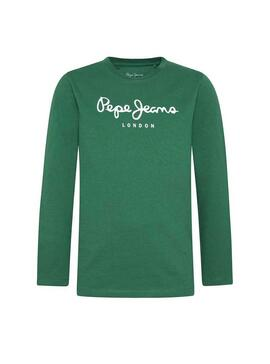 Camiseta Pepe Jeans New Herman JR Verde Niño