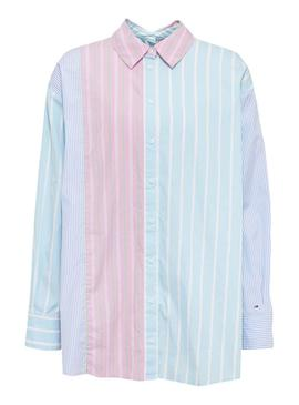 Camisa Tommy Jeans Rayas Multicolor Mujer