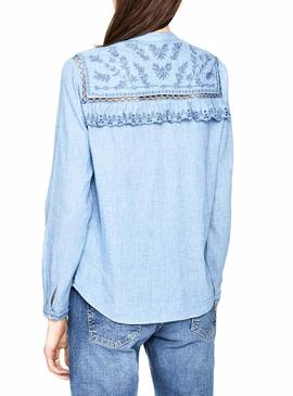 Camisa Pepe Jeans Holly Azul Mujer