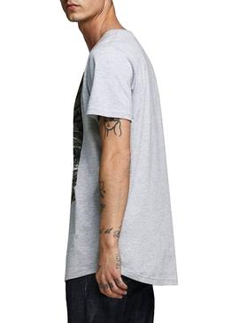 Camiseta Jack and Jones Comace Gris Hombre