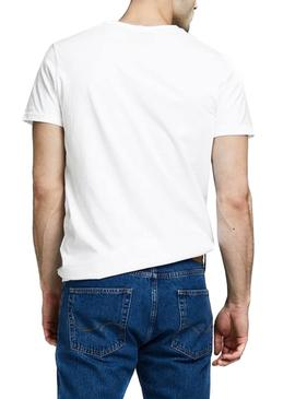 Camiseta Jack and Jones Comace Blanco Para Hombre