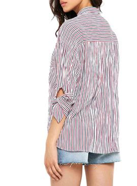Camisa Only Lillo Rojo Mujer