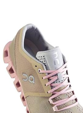 Zapatillas On Running Cloud X Sand Rose Mujer