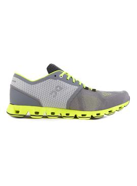 Zapatillas On Running Cloud X Grey Neon Hombre