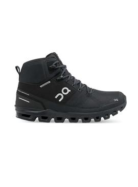 Botas On Running Cloudrock Waterproof Negro Mujer