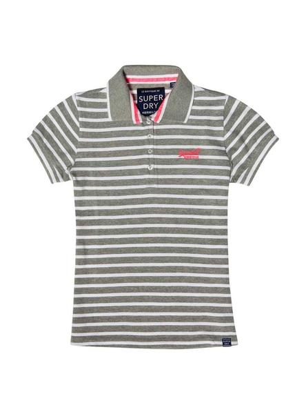 Polo Superdry Classic Gris Para Mujer