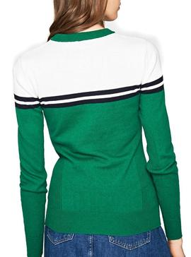 Jersey Pepe Jeans Olimpic Verde Para Mujer