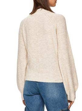 Jersey Pepe Jeans Clotilde Beige Para Mujer