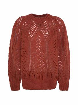 Jersey Pepe Jeans Marzella Currant Para Mujer