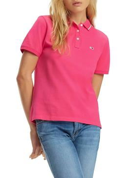 Polo Tommy Jeans Classics Rosa Mujer