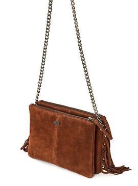Bolso Pepe Jeans Line Camel Para Mujer
