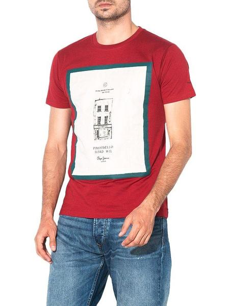 Camiseta Pepe Jeans Baxter Granate Para Hombre