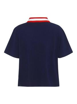 Polo Tommy Jeans Branded Marino Mujer