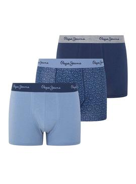 Pack Calzoncillos Pepe Jeans Colis Azul Hombre