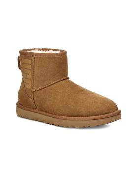 Botas UGG Classic Mini Rubber Logo Chestnut Mujer