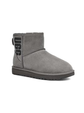 Botas UGG Classic Mini Rubber Logo Gris Mujer