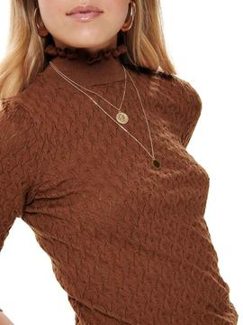 Jersey Only Lorelai Marron Mujer