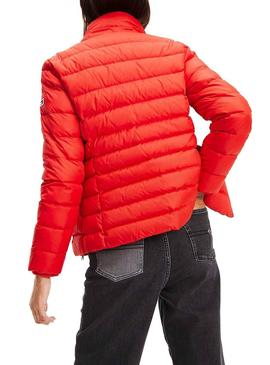 Cazadora Tommy Jeans Essential Hooded Rojo Mujer