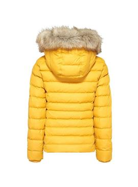 Cazadora Tommy Jeans Essential Hood Amarillo Mujer