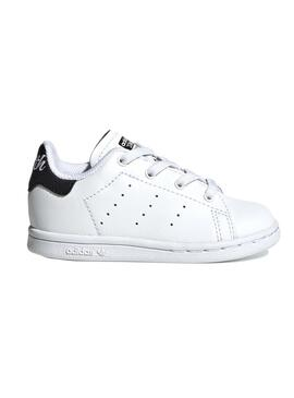 Zapatillas Adidas Stan Smith Blanco y Negro Kids