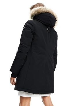 Parka Tommy Jeans Technical Negro Para Mujer
