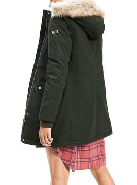 Parka Tommy Jeans Technical Verde Para Mujer