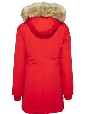 Parka Tommy Jeans Technical Rojo Para Mujer