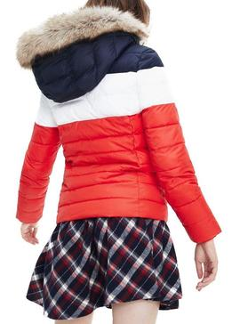 Cazadora Tommy Jeans Acolchada Colorblock Mujer
