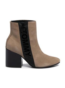 Botines Tommy Jeans Mid Heel Camel Mujer