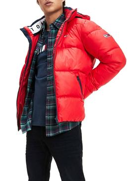 Cazadora Tommy Jeans Essential Hood Rojo