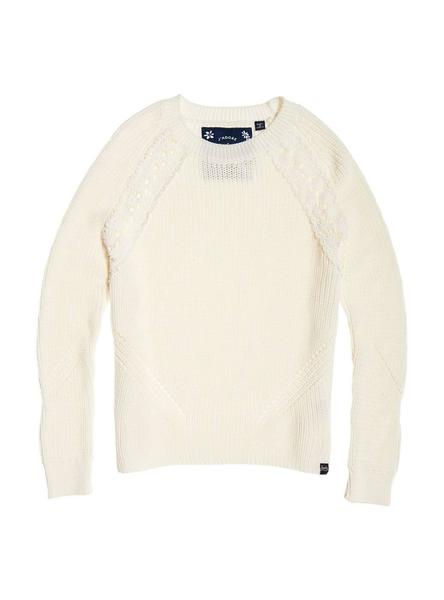 Jersey Superdry Bella Lace Blanco Mujer