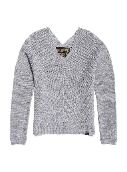 Jersey Superdry Cora Gris Para Mujer