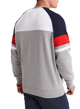 Sudadera Superdry Racer Print Gris Hombre