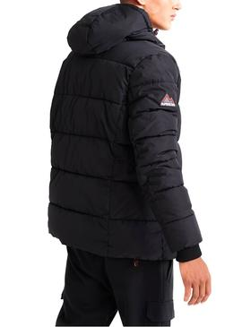 Chaqueta Superdry Sports Puffer Negro Hombre