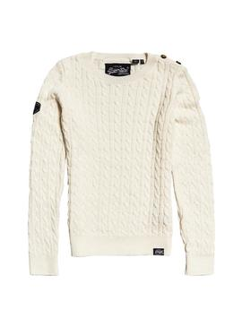 Jersey Superdry Croyde Bay Beige Mujer