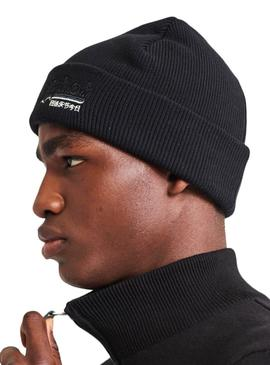 Gorro Superdry Orange Lebel Negro Hombre