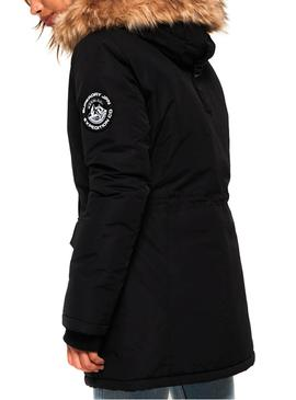 Parka Superdry Ashley Everest Negro Mujer
