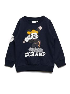 Sudadera Name It Mickey Bently Negro Niño