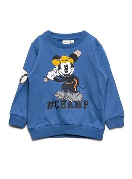 Sudadera Name It Mickey Bently Azul Niño