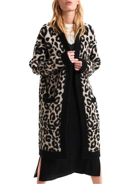 Chaqueta Superdry Leopard Marron Mujer