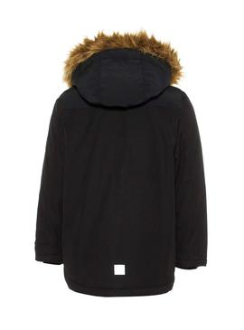 Parka Name It Malien Negro Niño