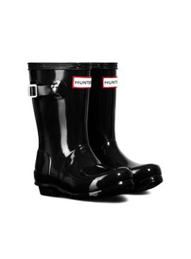 Bota Hunter Little Original Gloss Negro