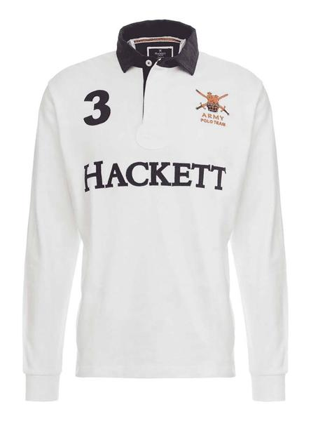 Polo Hackett Rugby Blanco Hombre