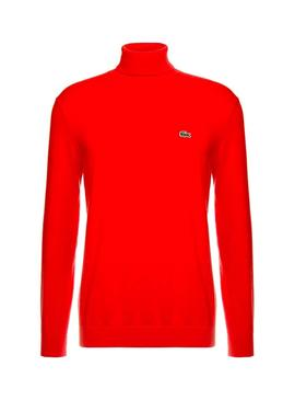 Jersey Lacoste Tricot Rojo Hombre