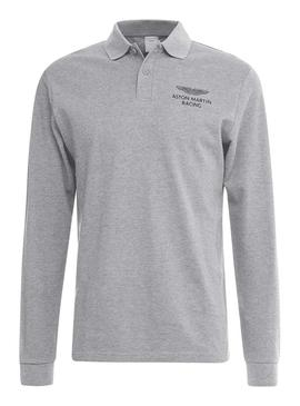 Polo Hackett Aston Martin Racing Gris Hombre